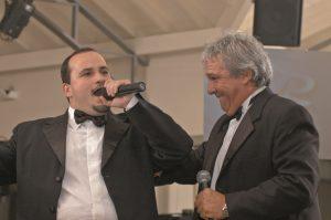 Angel Amosa junto a Alfredo Allende